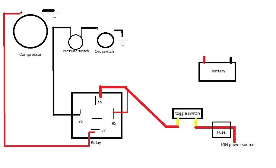 AC compressor wiring help. | El Camino Central Forum | Hvac Compressor Wiring |  | El Camino Central Forum