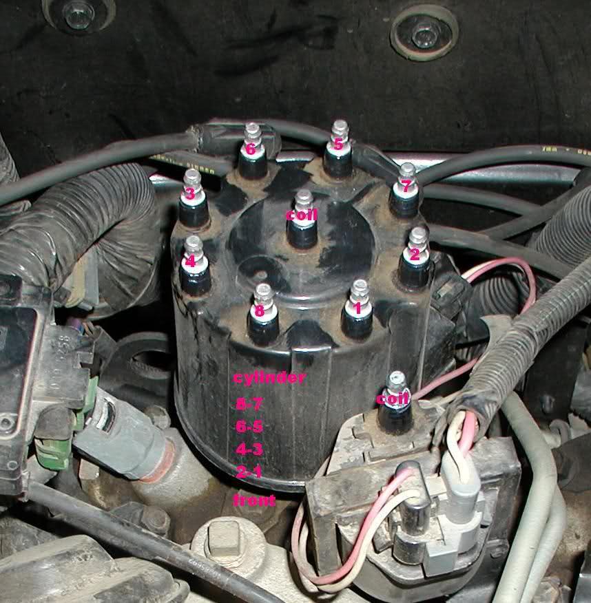 firing order for 305 chevy motor