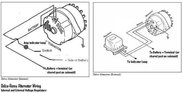 chevy 3 wire alternator wiring 1 2 terminal