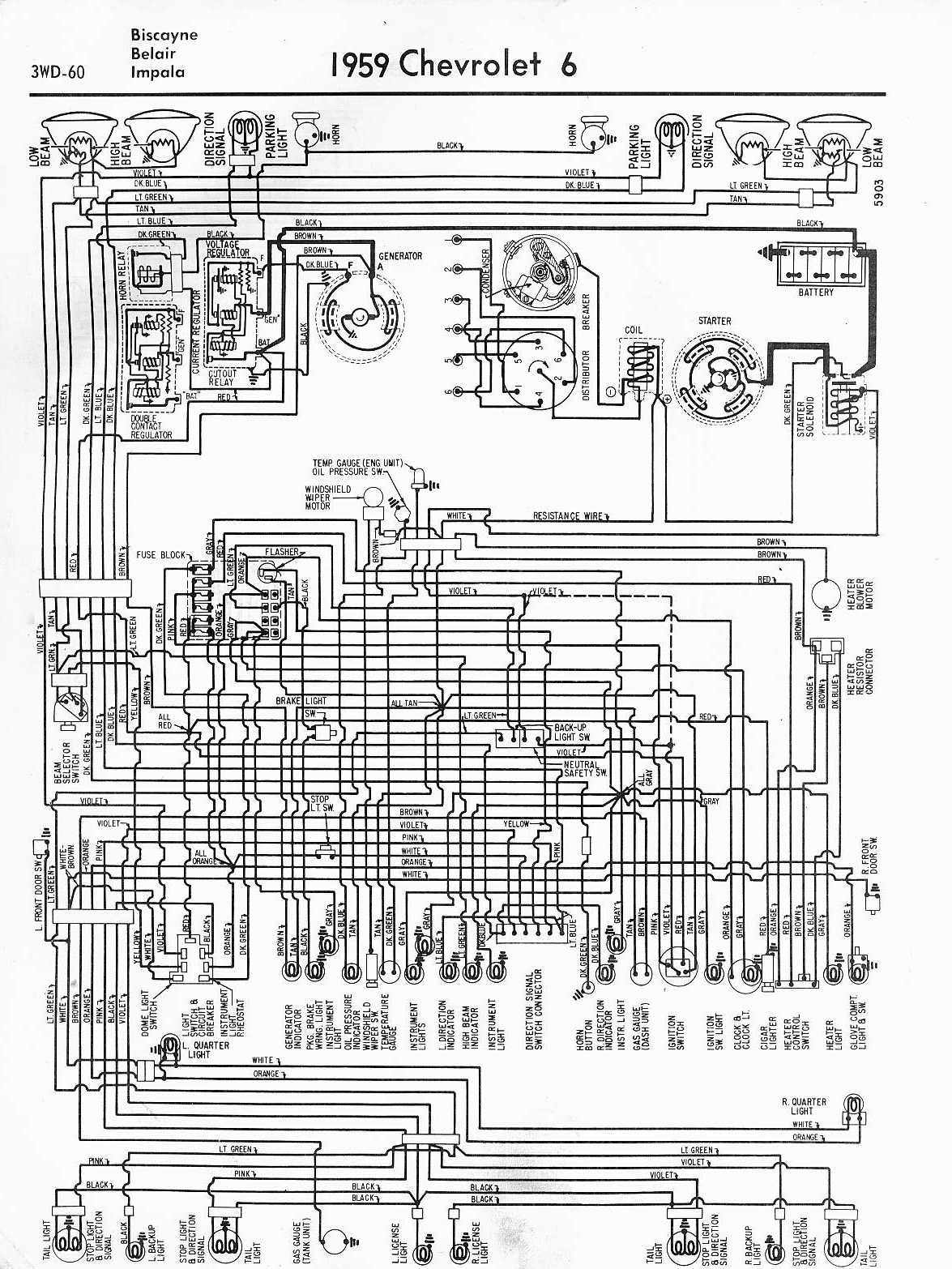 wiring diagrams 59 60, 64 88 el camino central forum 1983 el camino wiring -diagram 69 el camino wiring schematic #10